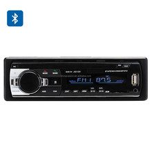 One DIN Bluetooth Car Stereo - 4x 60W Speaker Support, Front Aux In, USB + SD Card Slot, MP3, WAV, WMA, FM Tuner
