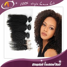 7A Unprocessed Products 3 pcs Virgin Hair Extension Wholesale kinky curl Human brand name hair weave