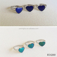 Factory direct fashion changing color mood ring for sale