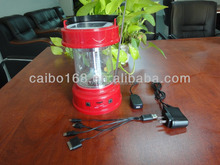 Factory direc wholesale best quality energy-saving portable solar camping lantern with radio equipment