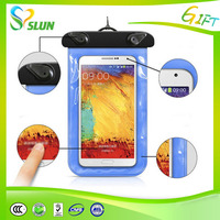 new design promotional pvc waterproof cell phone bag with armlet and Lanyard