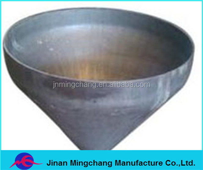 Stainless steel pipe end cap high quality conical head