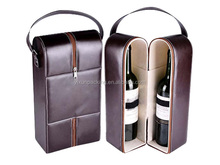 Personalized Leather gift Wine Bag Carrier With Pocket Corkscrew
