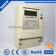 DTFS 7666 Three-phase four wire rf modem electric meter three phase induction energy meters