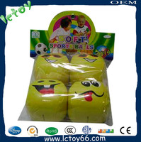 Lovely plush soft baby zorb ball with smile face