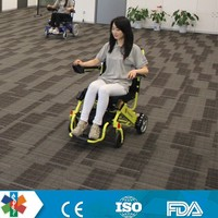 2015 New foldable electric wheelchair with hydraulic wheelchair lifts and power wheelchair motor