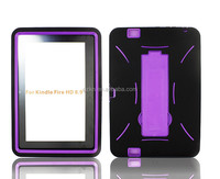 wholesales price popular practical tough robot waterproof PC+Silicone rubber case for Kindle Fire HD 8.9""
