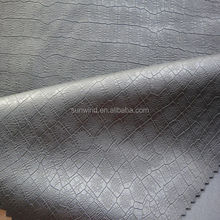PU leather with crocodile skin for garment