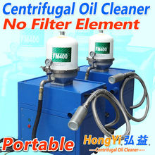 Portable centrifugal oil purifier for cleaning oil