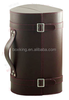 2015 antique hot selling leather wine box wine carrier