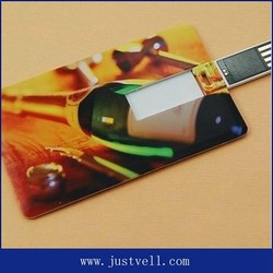 Hot sales color printing business card usb flash drive 2.0 500gb customized