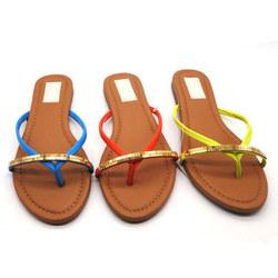 PU material cheap women folding travel slippers