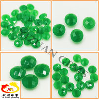 Natural marquise briolet cut green nephrite jade rough
