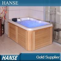 HS-098Y small size bathroom wooden spa/ led light spa/ indoor spa baths