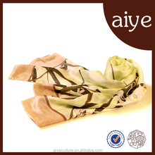 2015 Factory Direct Pure Chinese 100% silk scarf