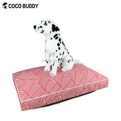 Stripe Pattern 100% Cotton Canvas Pet Dog Bed