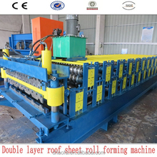 colorful galvanized metal roofing sheet two profile drawigs roll forming machine