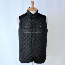 Top selling OEM black men quilted vest