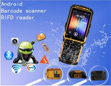 Handheld pda android pos wireless rfid reader gsm 3g mobile phone scanner TS-901,with 1.5m fall resistance