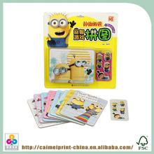 Fantasia crianças jogar quebra-cabeça impressão de cartão de papel