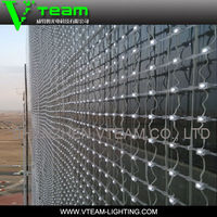 flexible soft led screen / transparent led media facade building lighting / flexible led video wall
