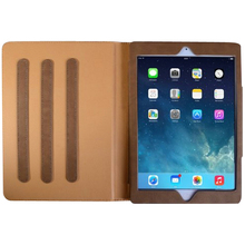 Book Style Multi-function PC Tablet Leather Case For Ipad Air