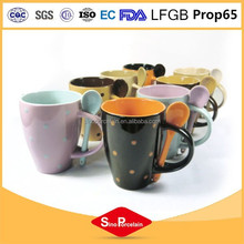 china wholesale white black ceramic mug