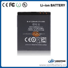 Low price BL-6F cell phone li-ion battery for Nokia