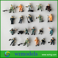 Well Painted Worker Figure Plastic Railway Ho 1:87 Human Figures Crafts