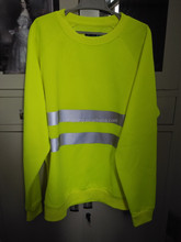 autumn winter men reflective tape environmental sanitation fluorescent yellow workwear oil field working clothes