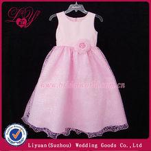 2014 fashional y hermoso vestidos para niñas de 7 años de edad
