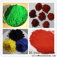 Factory hot sale 95% iron oxide red grout powder fe2o3 and yellow pigments for pavers/concrete/bricks