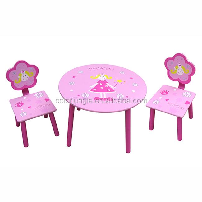 Rose enfants en bois étude modèles de table, pas cher table d'étude en gros