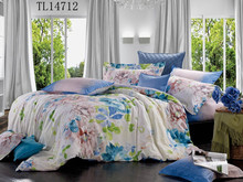 2015 new products pigment printing fabric 40*40/128*68 100% cotton duvet cover set with cushion pillow