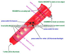 Multifunction Car Emergency LED Torch with Siren Sound Fire Alarm