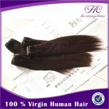 No Chemical Process 100% color virgin brazilian hair extensions with no split ends