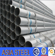 Welded Pre Galvanized steel pipe/hot dipped GI pipe with BS standard