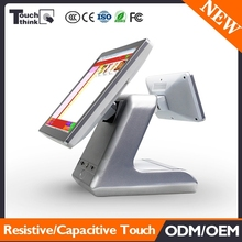 "15"" Touch Screen Retail Point of sale POS Cash Register with VFD220 Customer Display"