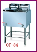 CE Approved Double Tank Double Basket Commercial Electric Deep Fryer With Oil Free With Fryer Thermostat(OT-84)