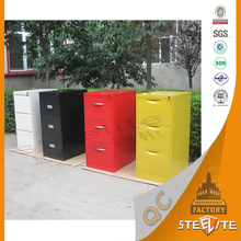 Office colorful KD structure metal office filing cabinet 3 drawer with for A4 hanging files