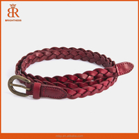 Braided leather belts new arrival genuine leather belt fashion harness leather belt