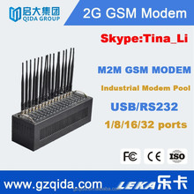 cheap M2M wireless PLC/SCADA/LED with rs232 gsm modem, bulk mms sending for free QP160