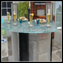 40mm commercial light up unique outdoor high top bar tables
