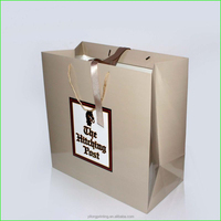 Wholesale custom logo shopping paper bag