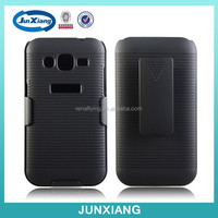 New holster combo case flip cover for samsung galaxy core prime g360 with kickstand