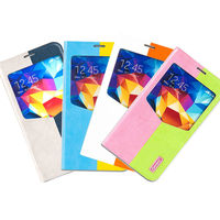 iSecret 2014 colorful slim soft PU leather phone cover for samsung galaxy s4 case