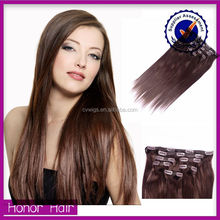 Best selling cheap Mongolian silky straight 8 inch clip-in human hair extensions