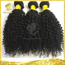 Hot!! Good quality Malaysian virgin hair, machine made weft, tangle and shedding free virgin Malaysian Kinky curl hair