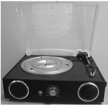 USB turntable player with cassette