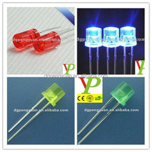 low price 5mm flat top multicolor led with 2 pins factory price